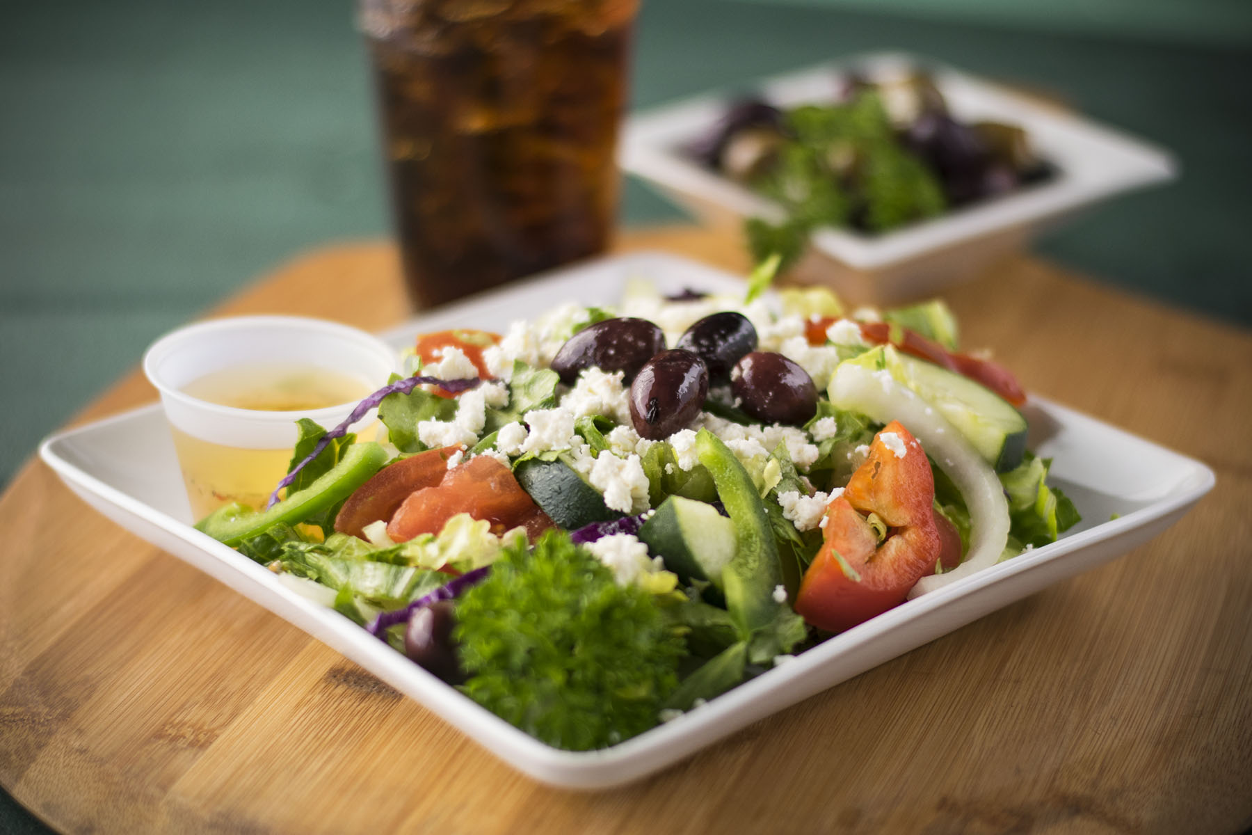 Greek Salad at Firdous Express